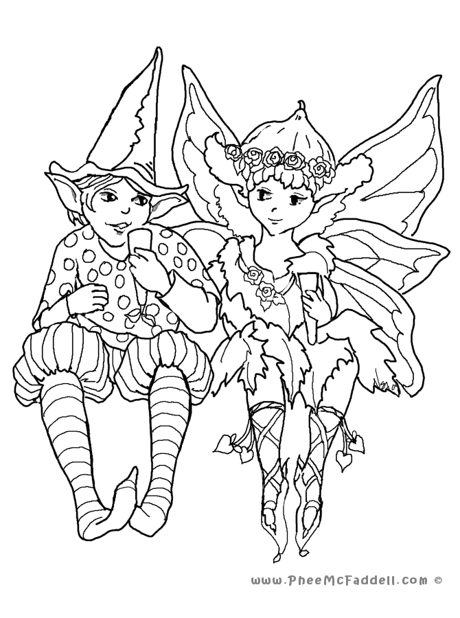 fairy coloring pages for adults - photo#27