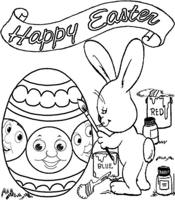 Printable colouring pages easter thomas the train for kids for Easter coloring pages for boys