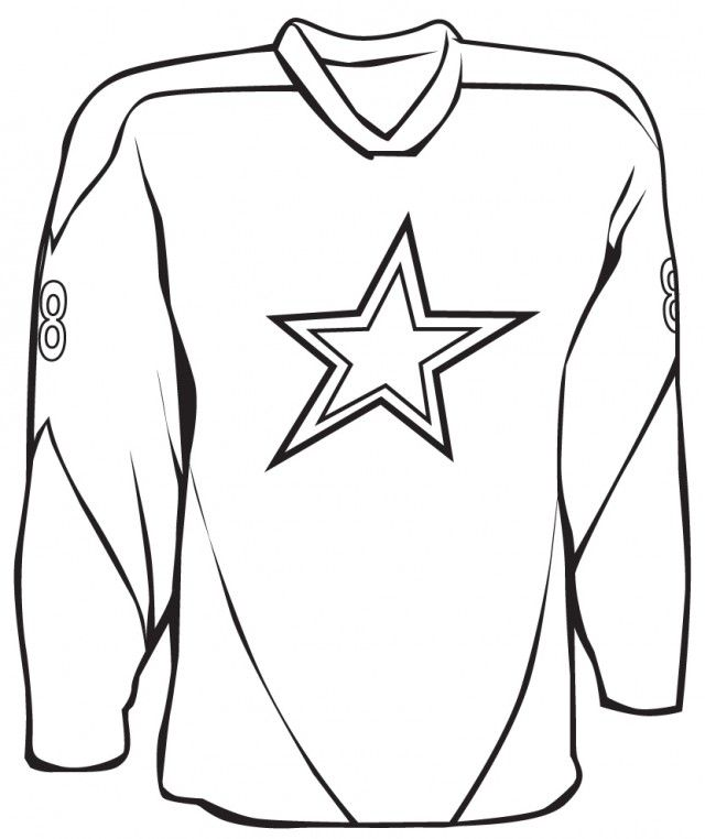 Football Jersey Coloring Pages - Coloring Home