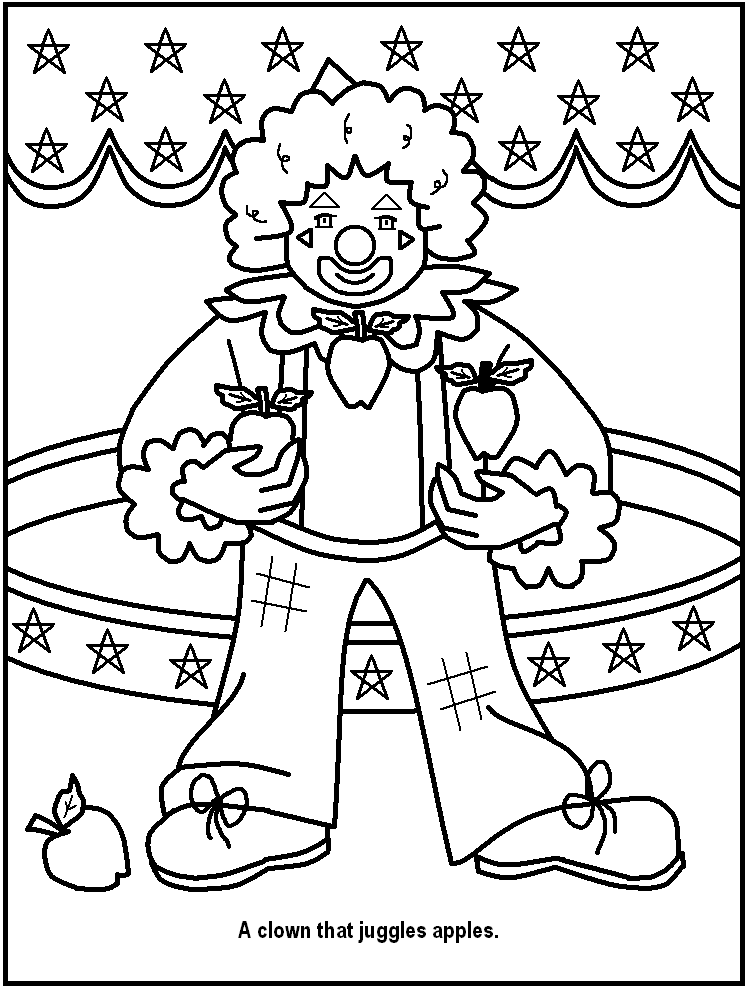 circus train coloring pages | Free Printable Circus Clip Art Sketch Coloring Page