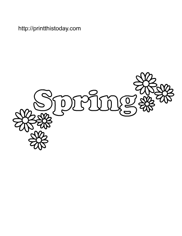 Free Printable Spring Coloring Pages for Kids | Print This Today