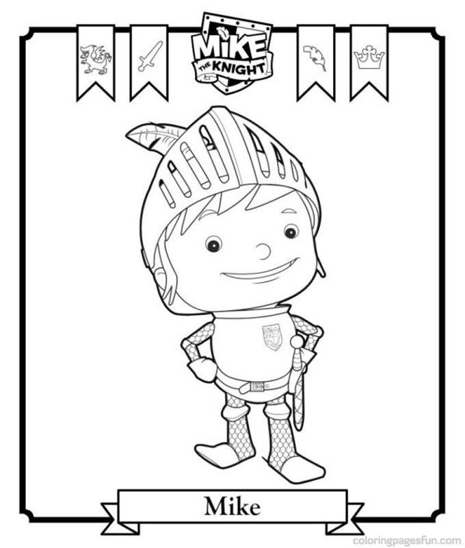Knights Coloring Page