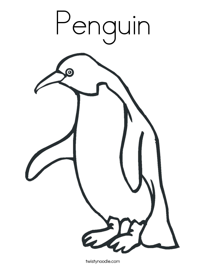 Baby Penguin Coloring Pages Coloring