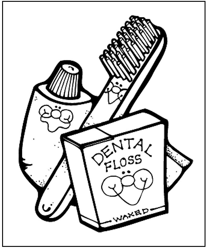 Dental Hygiene Coloring Pages