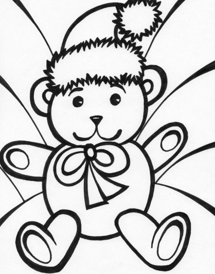 stuffed animal coloring pages - photo#23