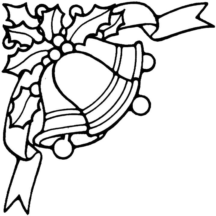 Christmas bell template coloring home