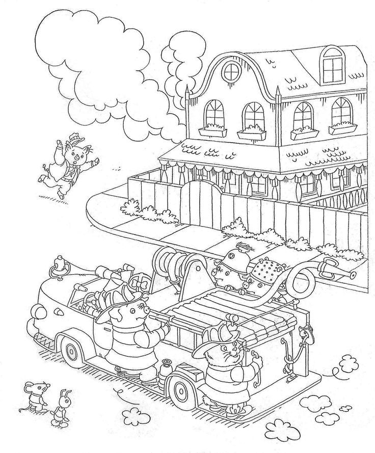 busytown huckle coloring pages - photo#7