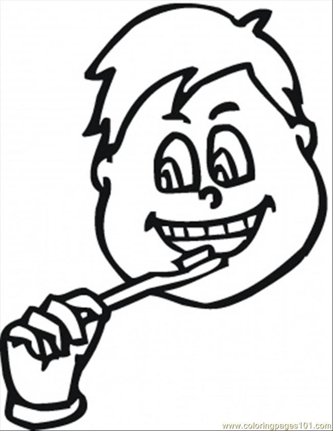 Brushing Teeth Coloring Pages Coloring Home