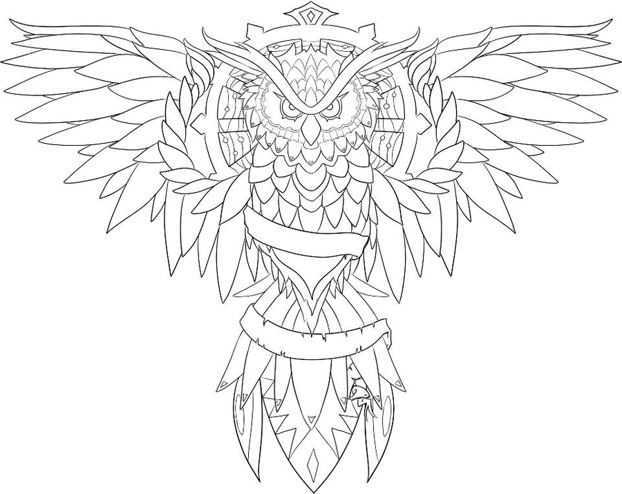 Photo To Line Art Software Free Download : Owl line drawing coloring home