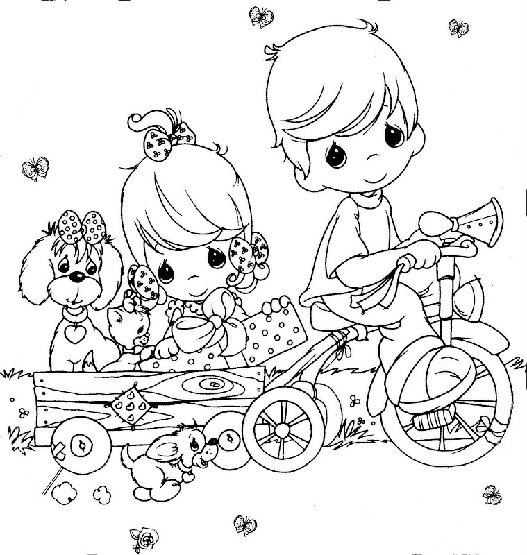 precious moments chritsmas coloring pages - photo#8