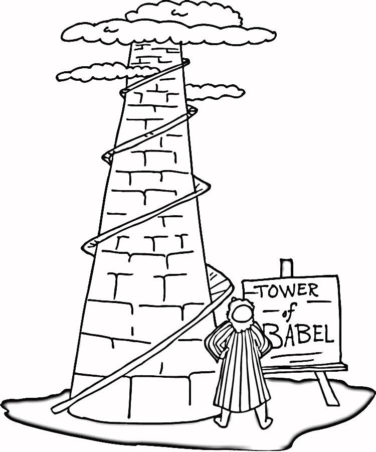 Tower Of Babel Coloring Page Az Coloring Pages Towers Coloring Page