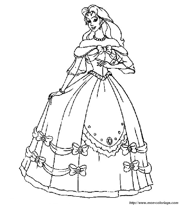 Prom Dress Cartoon Prom Dress Coloring Pages