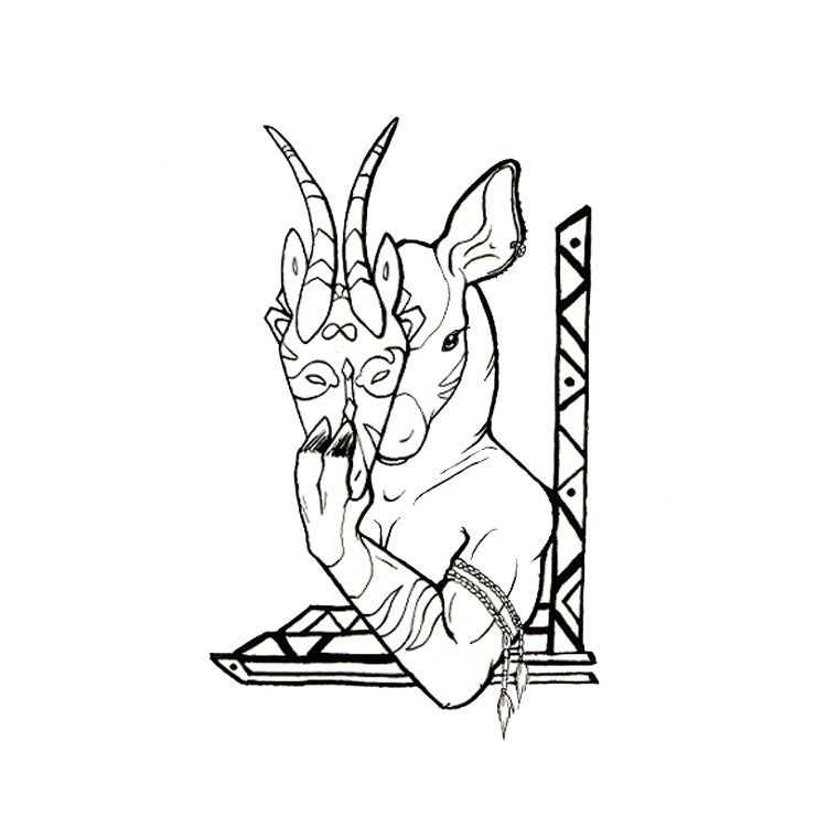 Pictures Of An Okapi Coloring Home Okapi Coloring Pages