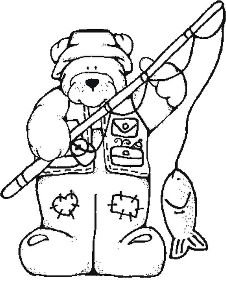 Fishing Coloring Pages Coloring