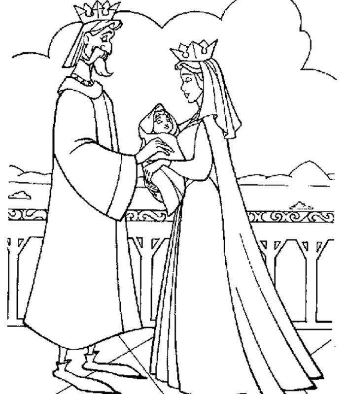 Coloring pages the sleeping beauty - picture 4