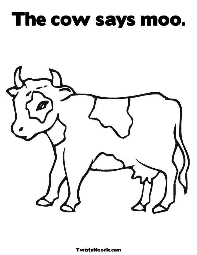 Cartoon cow colouring pages coloring home for Coloring pages of cows free printable