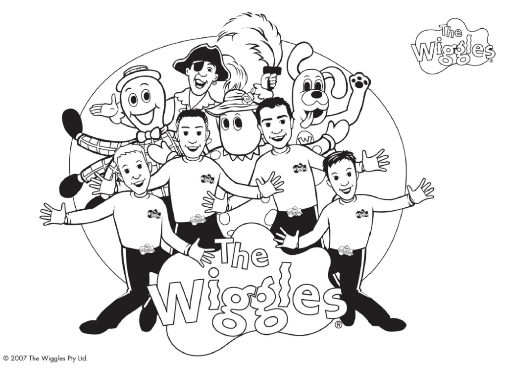 wiggles coloring page