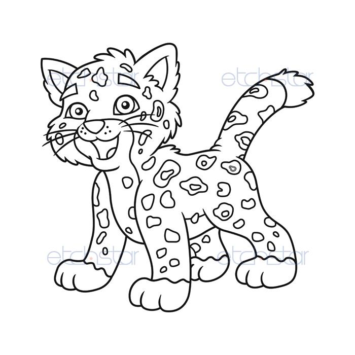 coloring pages baby jaguar - photo#14