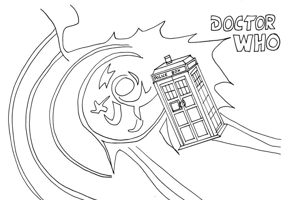 tardis coloring pages - photo#25