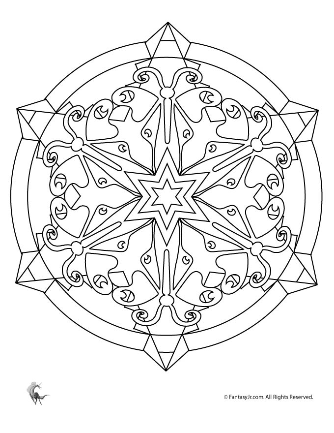 kaleidoscopes coloring pages - photo#27