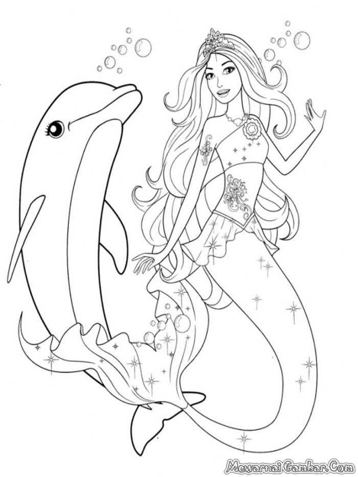 barbie mermaid free coloring pages - photo#5