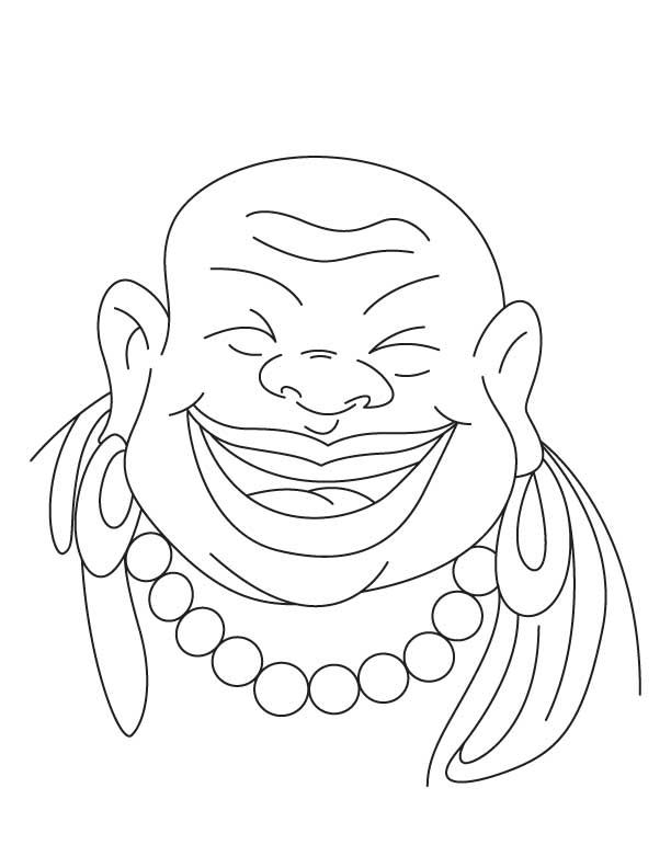 Chinese buddha coloring pages, Kids Coloring pages, Free Printable
