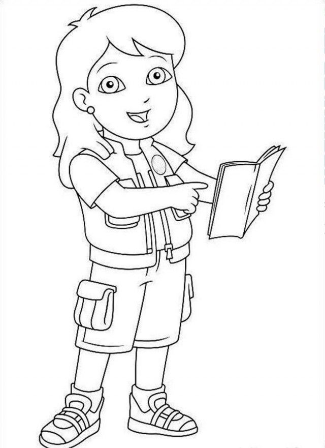 Diego Sister Coloring Page Coloringplus 180069 Go Diego Go