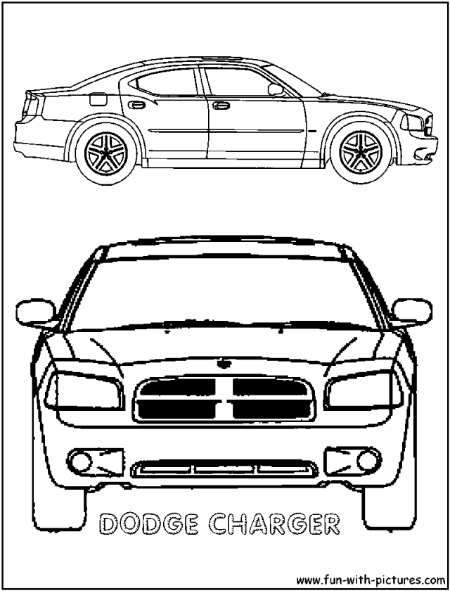 Dodge Charger Colouring Pages Page 2 204448 Cop Car Coloring ...