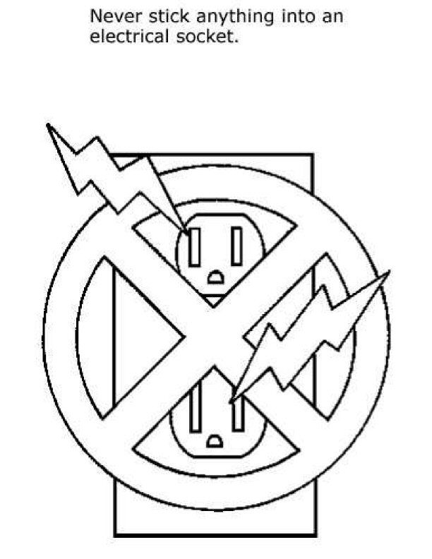 Safety Signs Coloring Pages - Coloring Home
