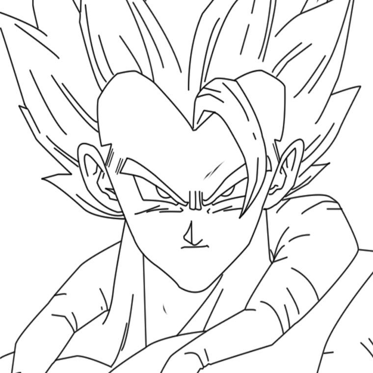 Coloriage Dragon Ball Z Gogeta Kunings Coloriage Coloring Home