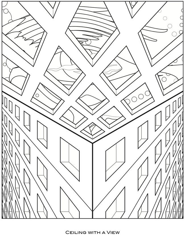 Mc Escher Coloring Pages Coloring