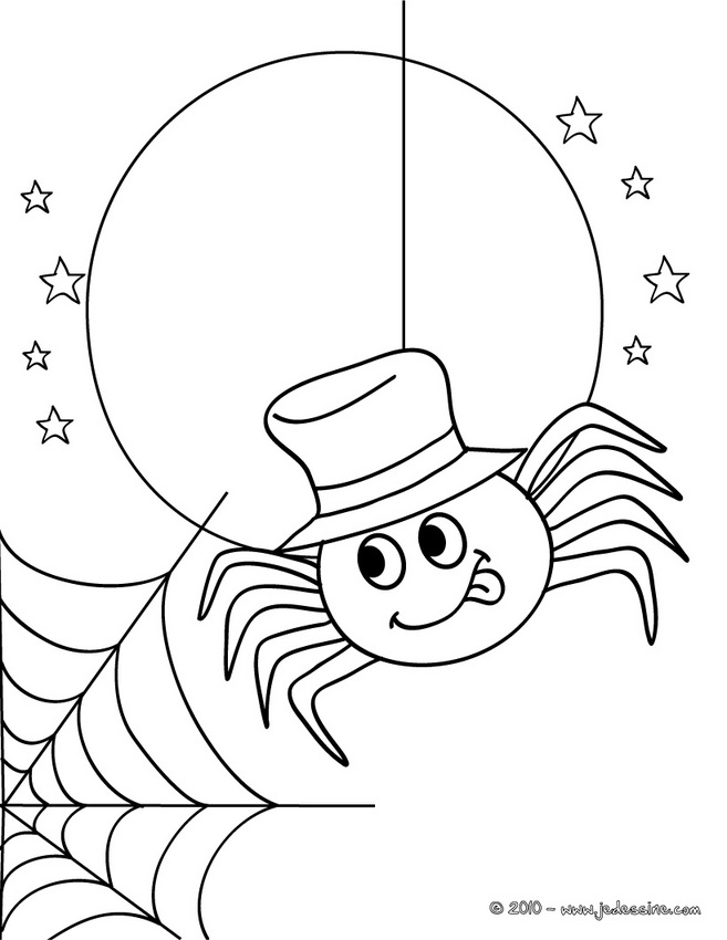 printable halloween spider coloring pages - photo#13