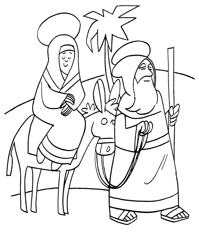 Zacharias En Elizabeth Kleurplaat Mary And Joseph Coloring Pages Az Coloring Pages