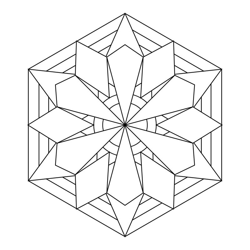 Simple Mandala Designs - AZ Coloring Pages