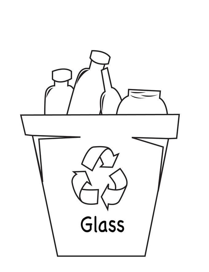 Recycle coloring pages coloring home for Things to make out of glass