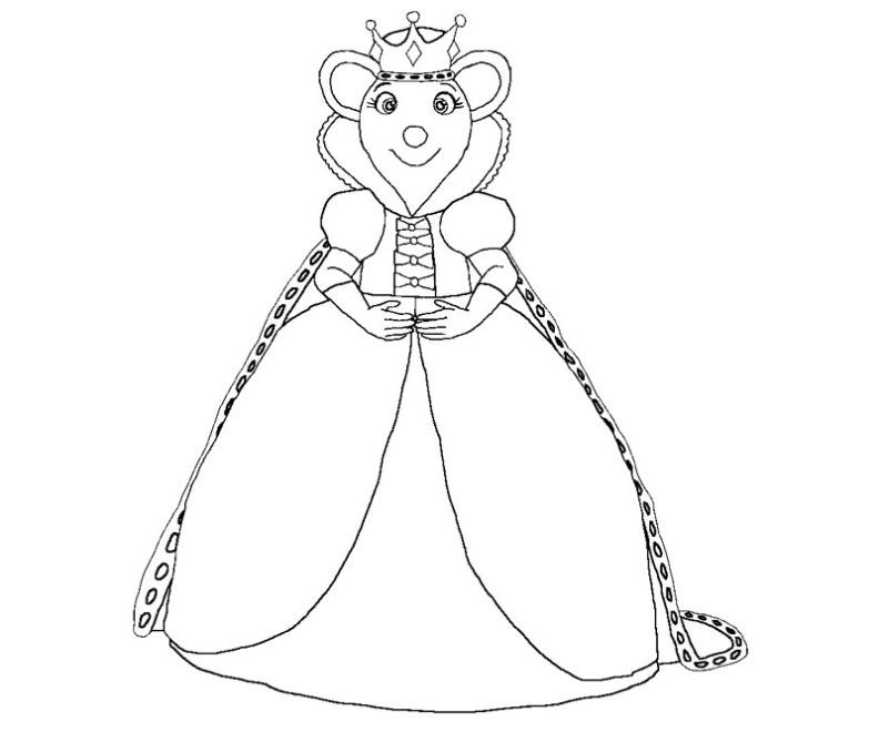 Printable Angelina Ballerina 6 Coloring Page | Free coloring pages