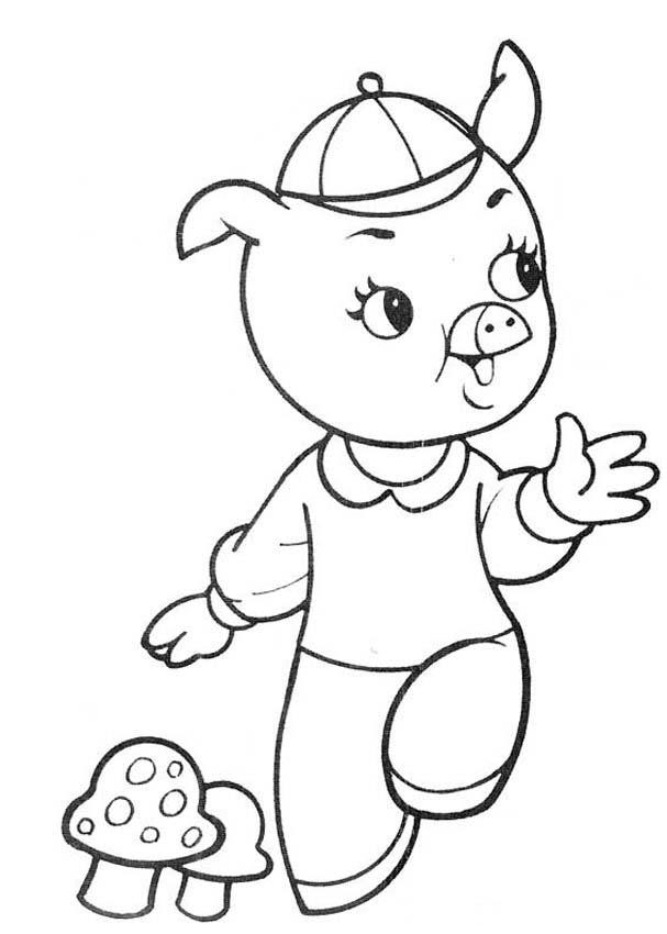 Wee Willie Winkie Coloring Page Pig Coloring Pages   Coloring