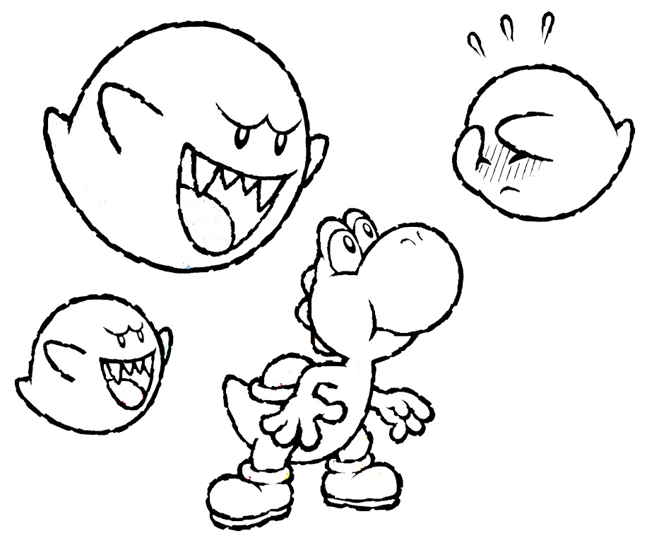 Baby yoshi coloring pages az coloring pages for Mario coloring pages yoshi