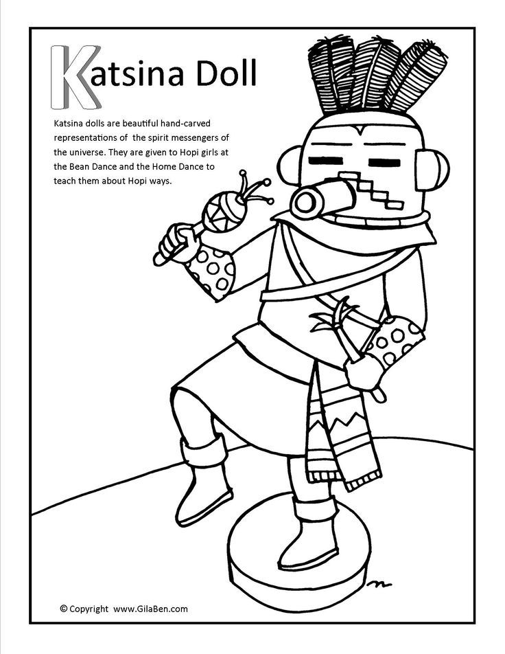 kachina coloring pages to print - photo#25