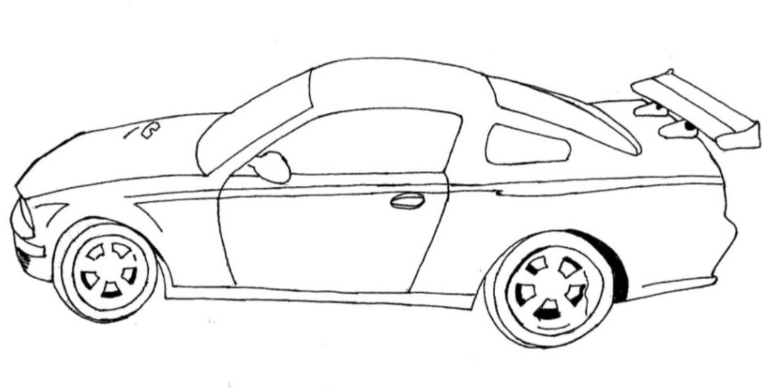 race car coloring pages for  Race Car Drawing For Kids