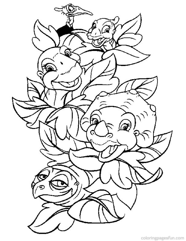 Dinosaur land before time az coloring pages for The land before time coloring pages