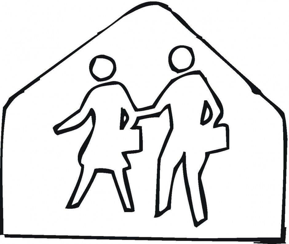 Safety Sign Coloring Pages Coloring Home