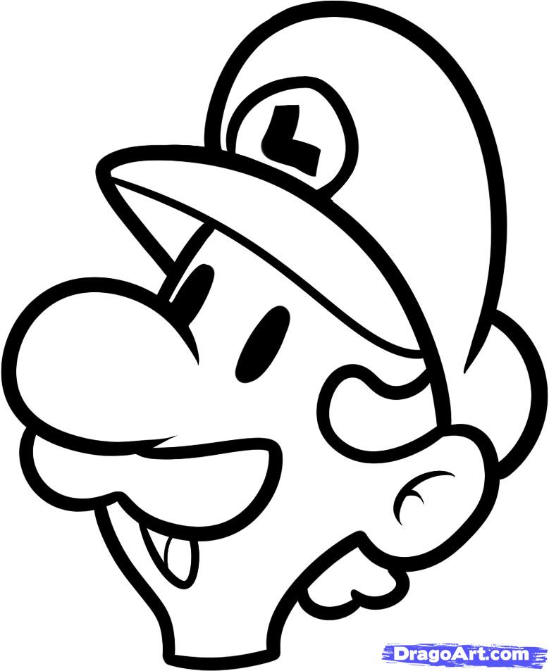 How To Draw Mario Characters Step By Step For Kids How to Draw Luigi Easy  Step