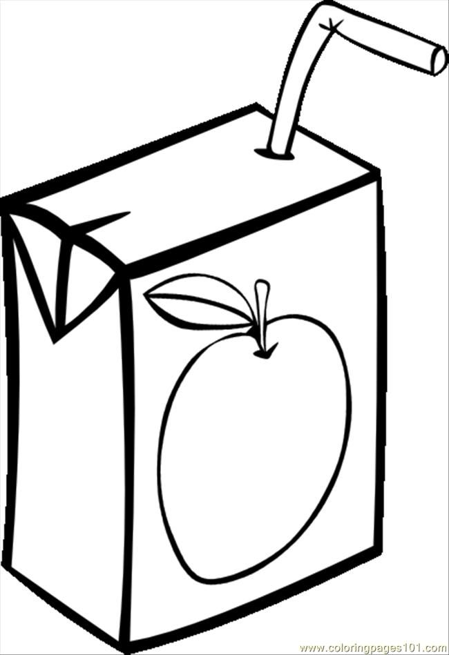 Apple Juice Colouring Pages  Coloring Home
