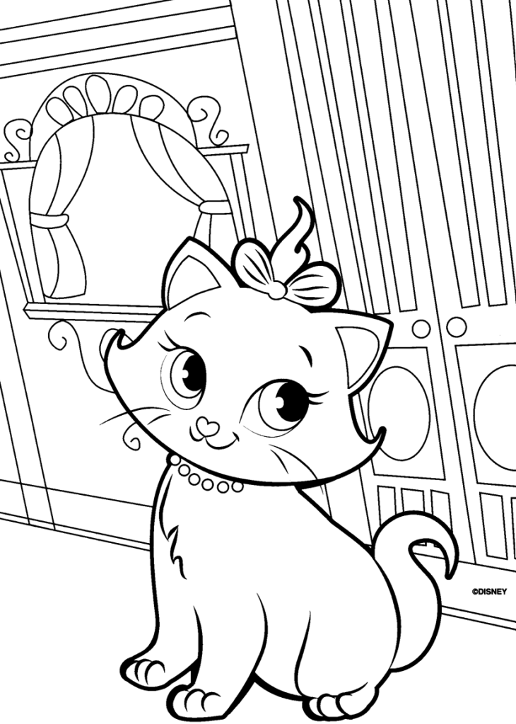 Cute Cat Coloring Pages AZ Coloring