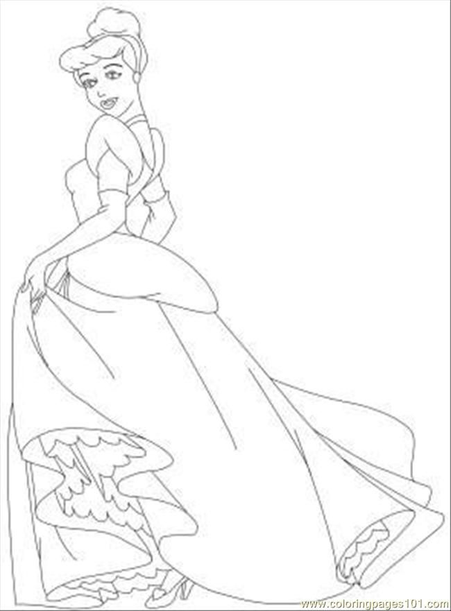 Coloring Pages Coloring Pages Cinderella 10 (Cartoons > Cinderella