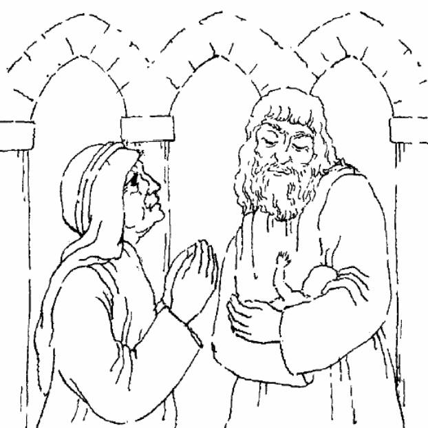 simeon and anna coloring pages - photo#3
