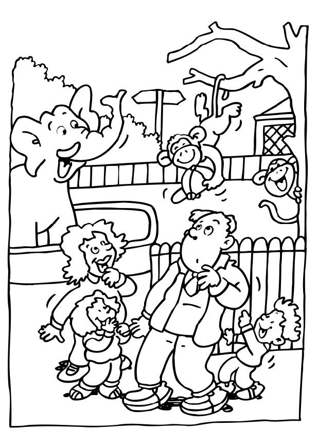 zoo kindergarten coloring pages - photo#11