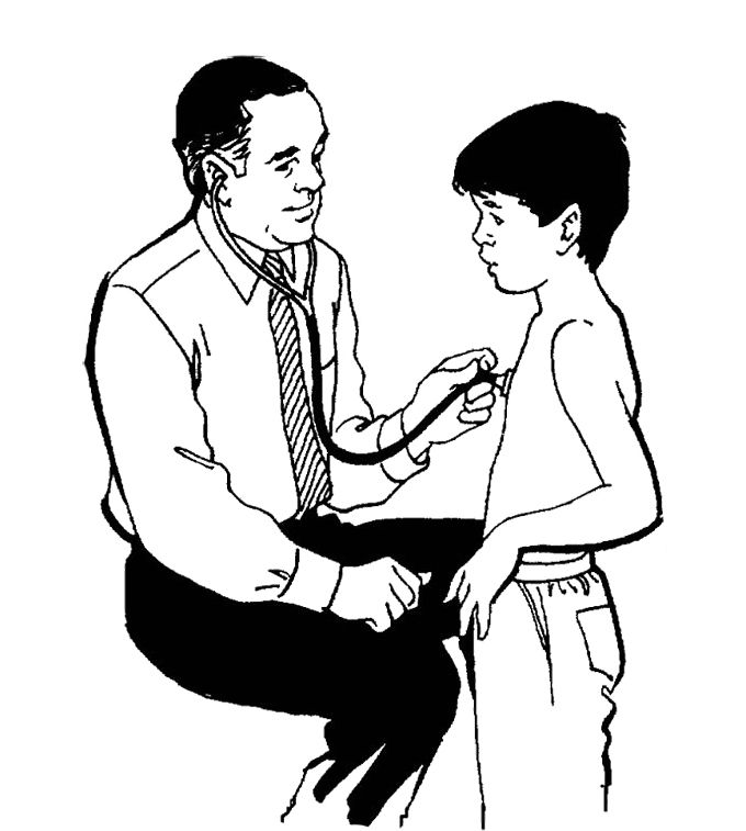 Printable Children Were Examined By Doctors Coloring Pages