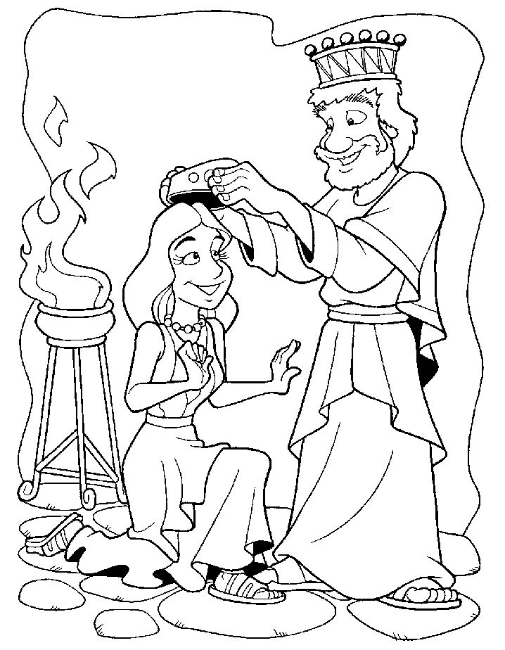 Queen Esther Coloring Pages AZ